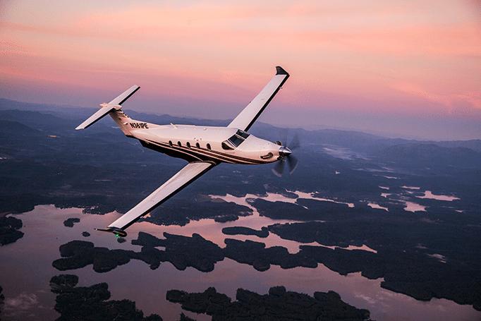 Pilatus PC-12 Aerial