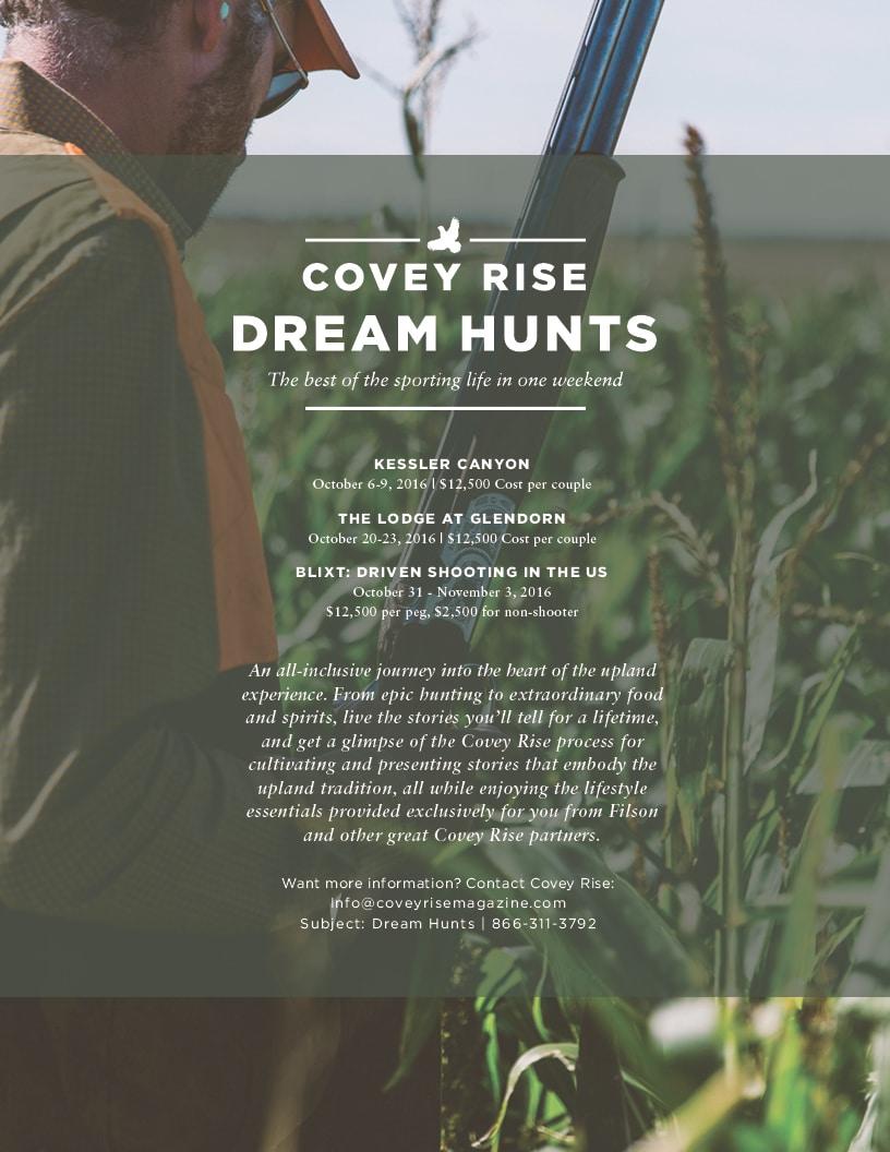 Covey Rise Dream Hunt 2016