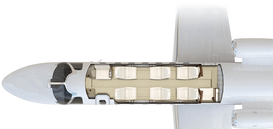 Citation CJ3 Cabin Configuration