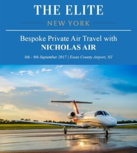 The Elite New York - Bespoke Private Air Travel with Nicholas Air