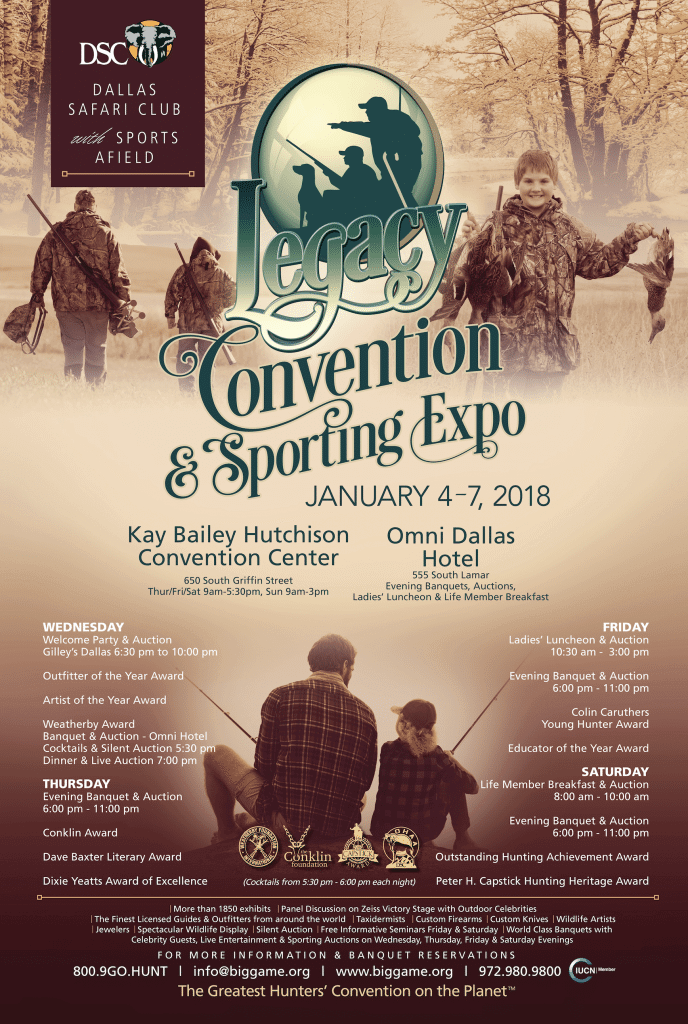 dsc convention poster - Dallas Safari Club and Nicholas Air