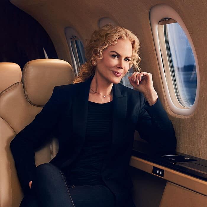 Nicole Kidman Onboard Citation Latitude Private Jet