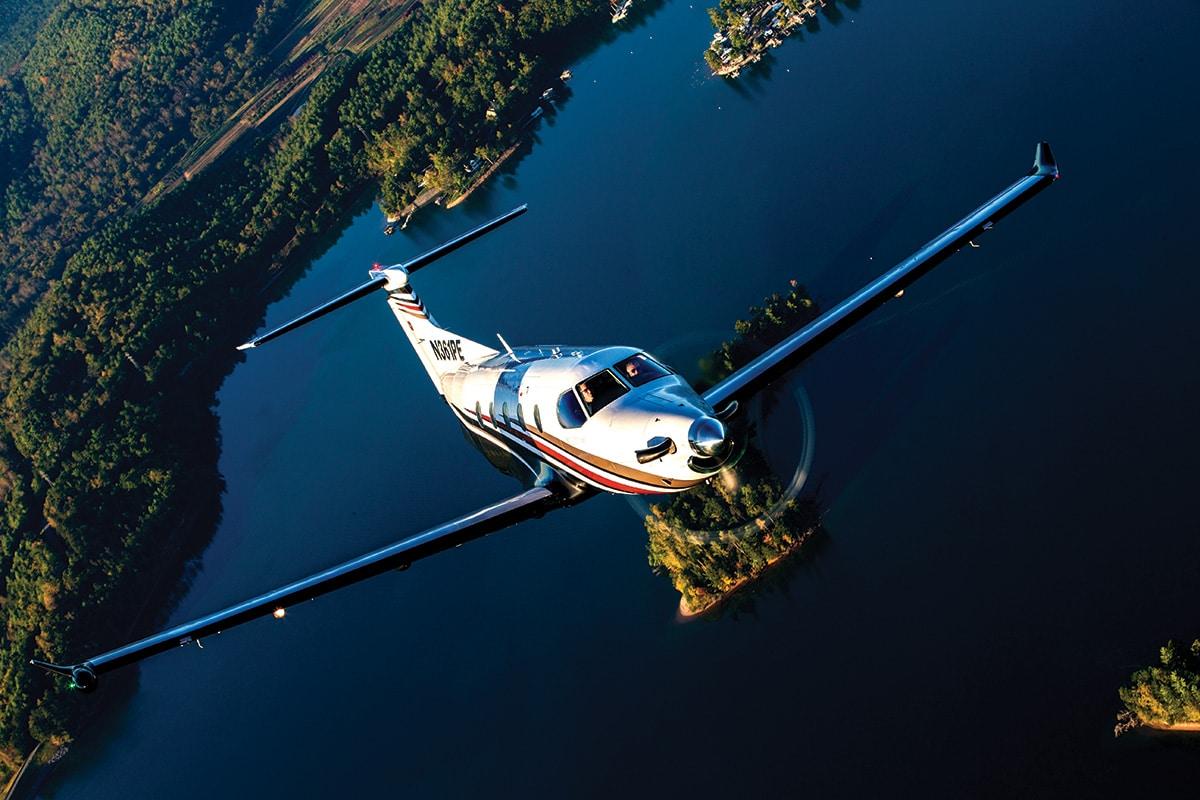 Pilatus PC-12 Over Water