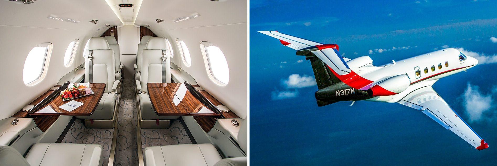 Phenom 300 Interior and Aerial