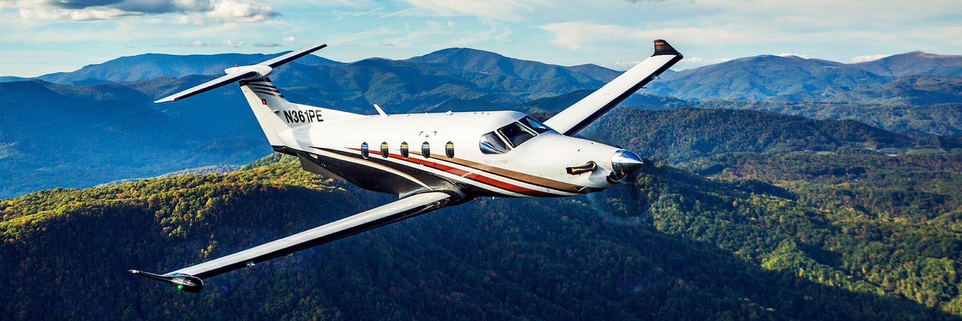 Pilatus PC-12 Over North Carolina Hillsides