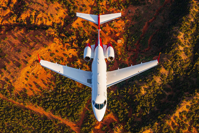 Bombardier Challenger 300 Aerial Photo from Above