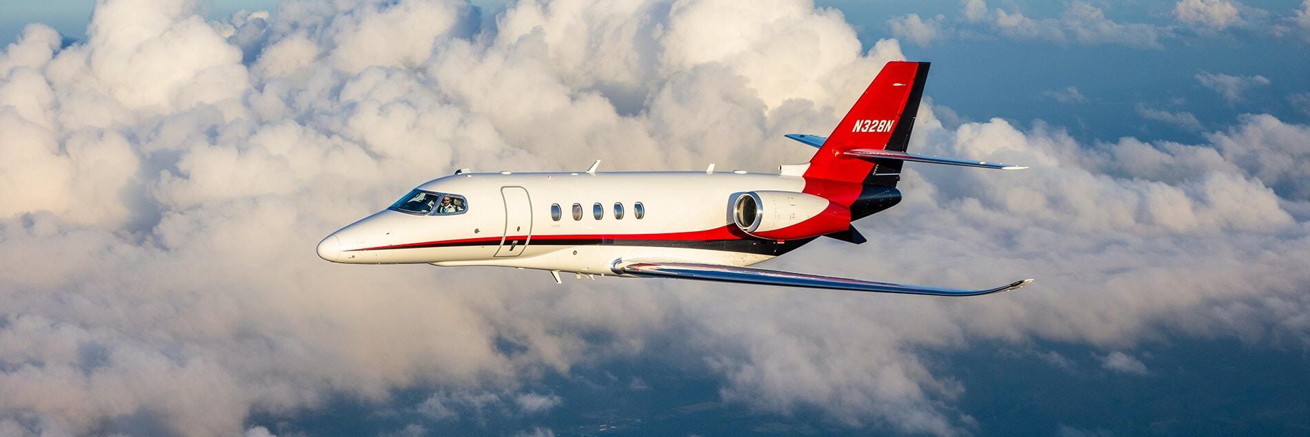 Cessna Citation Latitude in Clouds