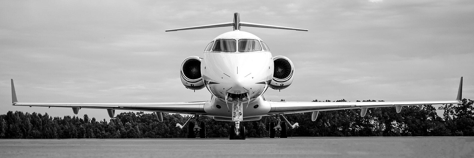 Bombardier Challenger 300 Black & White Photo