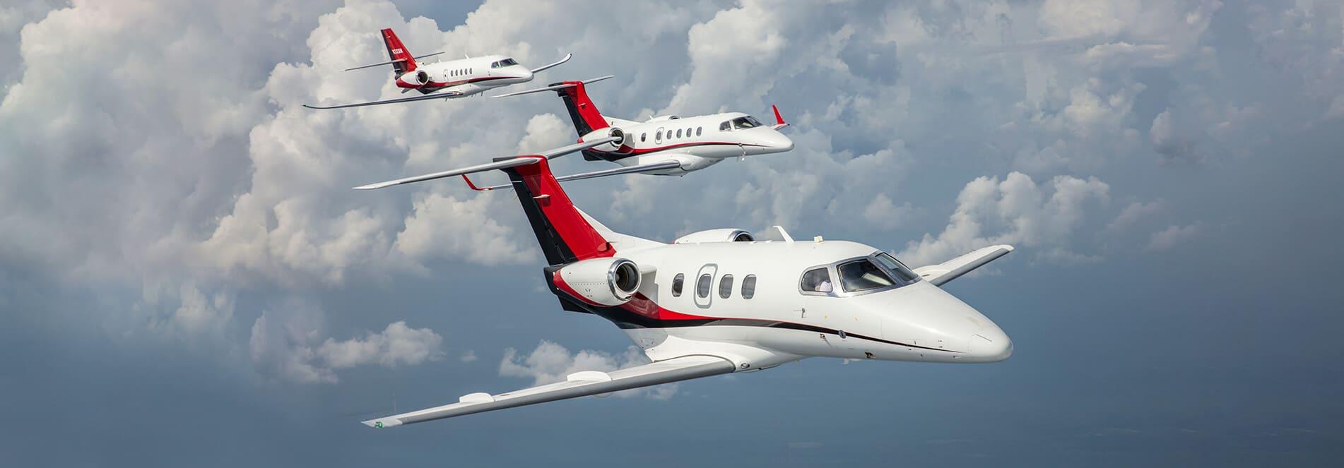 Embraer Phenom 100, Embraer Phenom 300, & Cessna Citation Latitude in Aerial Formation