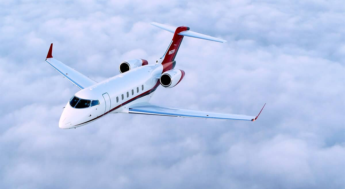 Bombardier Challenger 300 Aerial Photo