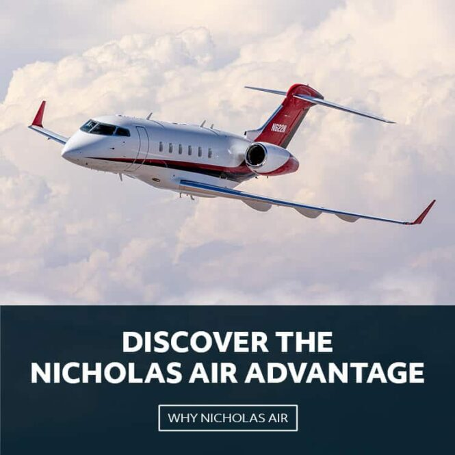 Bombardier Challenger 300 Flying Through Clouds | Discover The Nicholas Air Advantage