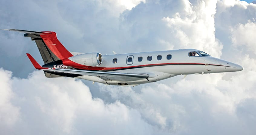 Embraer Phenom 300 Aerial