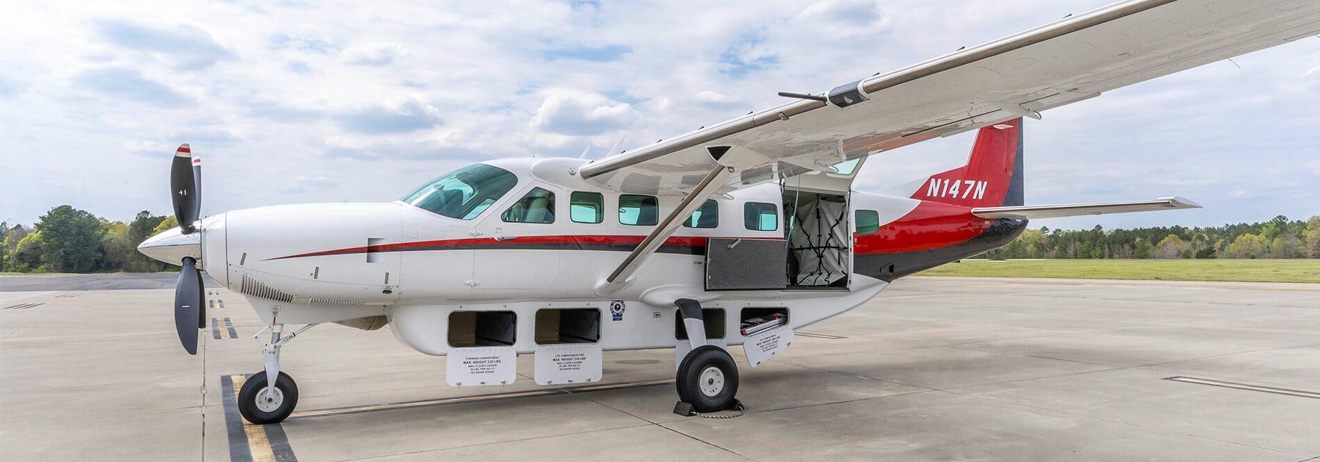 Cessna Caravan Exterior with Cargo Bays Open