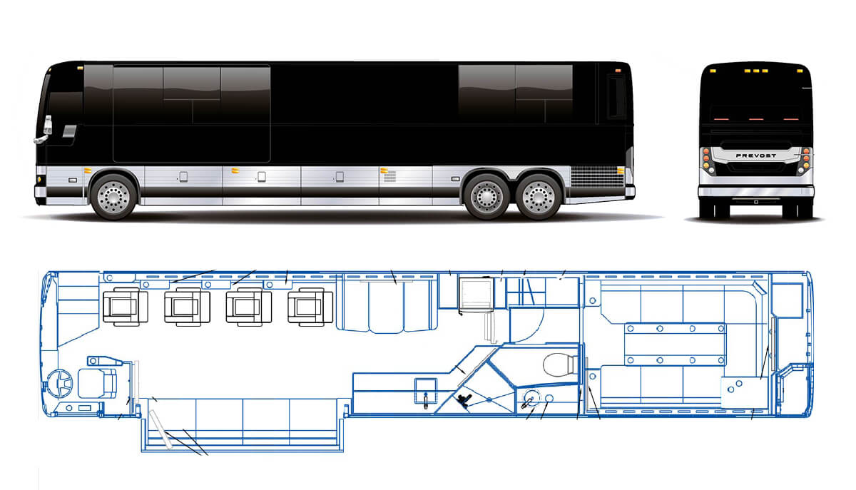 Nicholas Air Prevost Executive Coach Illustration