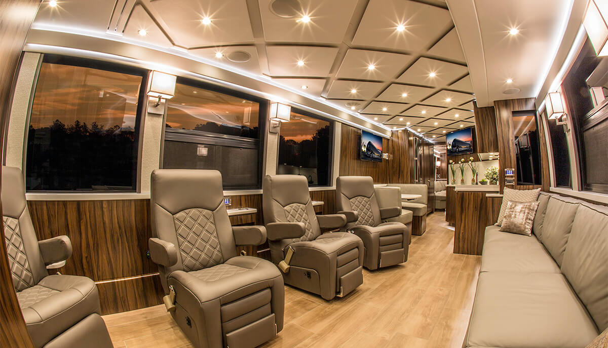 Nicholas Air Prevost Executive Coach Interior