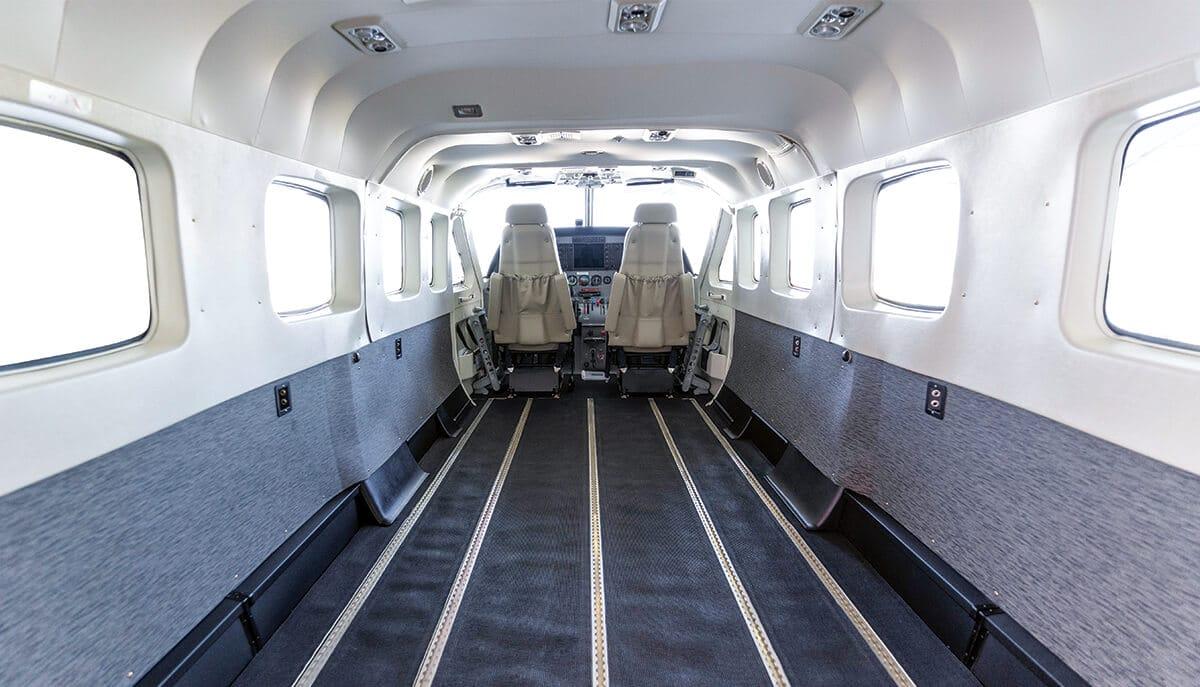 Cessna Caravan Empty Cargo Interior